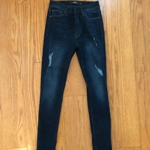 Hudson dark wash high waisted jeans - size 24